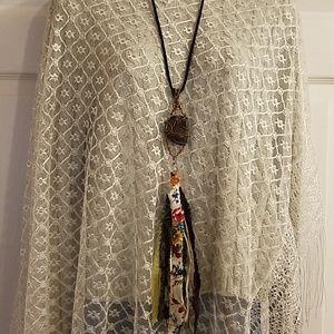 Long Boho Artisan Tassel Necklace